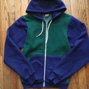 American Apparel hooded sweatshirt.